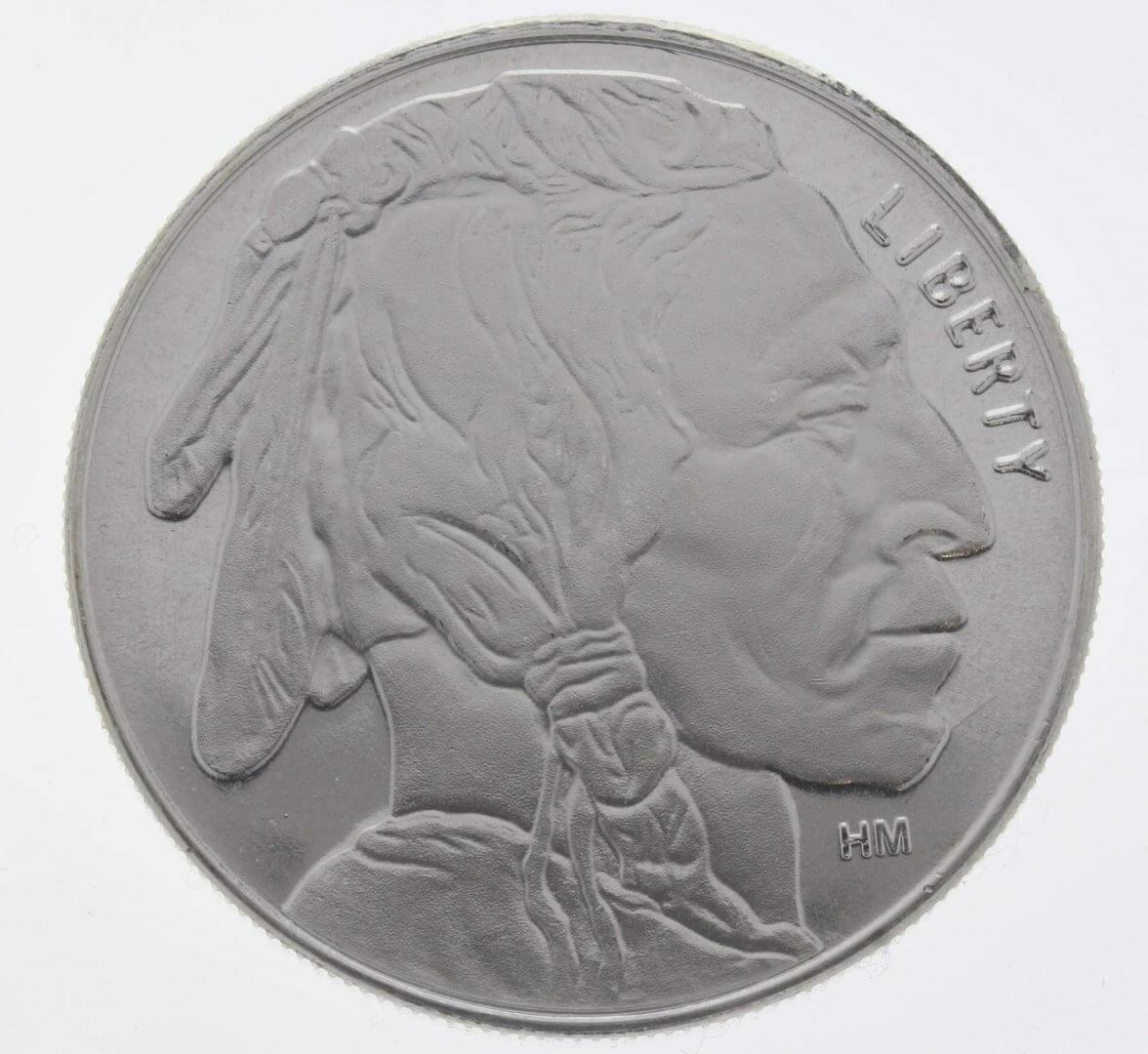 Buffalo / Indian Head 1oz .999 Silver Bullion Coin - Highland Mint 1