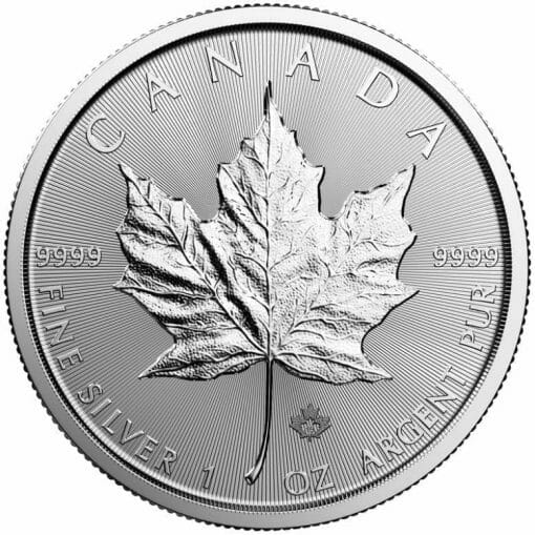 2019 Maple Leaf 1oz .9999 Silver Bullion Coin - Royal Canadian Mint 1