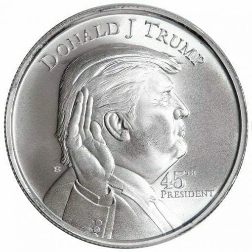 Donald Trump - 45th President 1oz .999 Silver Bullion Round 1