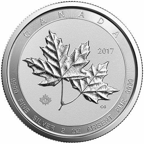 2017 Silver Twin Maples 2oz .9999 Silver Bullion Coin - Maple Leaf - Royal Canadian Mint 1