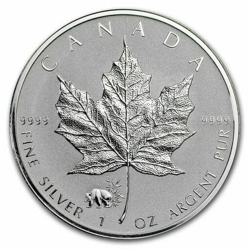 2017 Maple Leaf with Panda Privy 1oz .9999 Silver Bullion Coin - Reverse Proof - Royal Canadian Mint 1