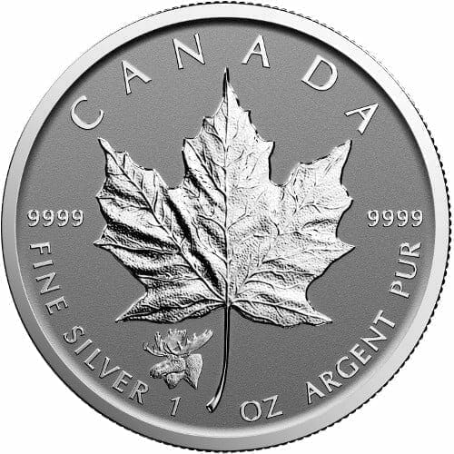 2017 Maple Leaf with Moose Privy 1oz .9999 Silver Bullion Coin - Reverse Proof - Royal Canadian Mint 1
