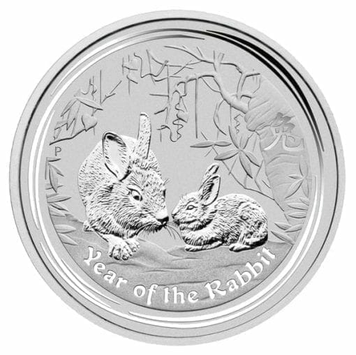 2011 Year of the Rabbit 2oz .999 Silver Bullion Coin - Lunar Series II - The Perth Mint 1