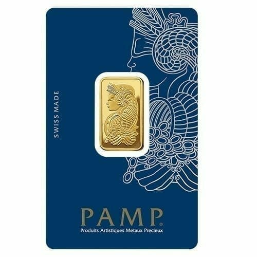 Lady Fortuna 10g .9999 Gold Minted Bullion Bar - PAMP Suisse 1