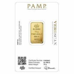 Lady Fortuna 10g .9999 Gold Minted Bullion Bar - PAMP Suisse 3