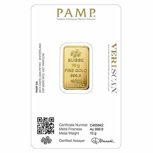 Lady Fortuna 10g .9999 Gold Minted Bullion Bar - PAMP Suisse 2