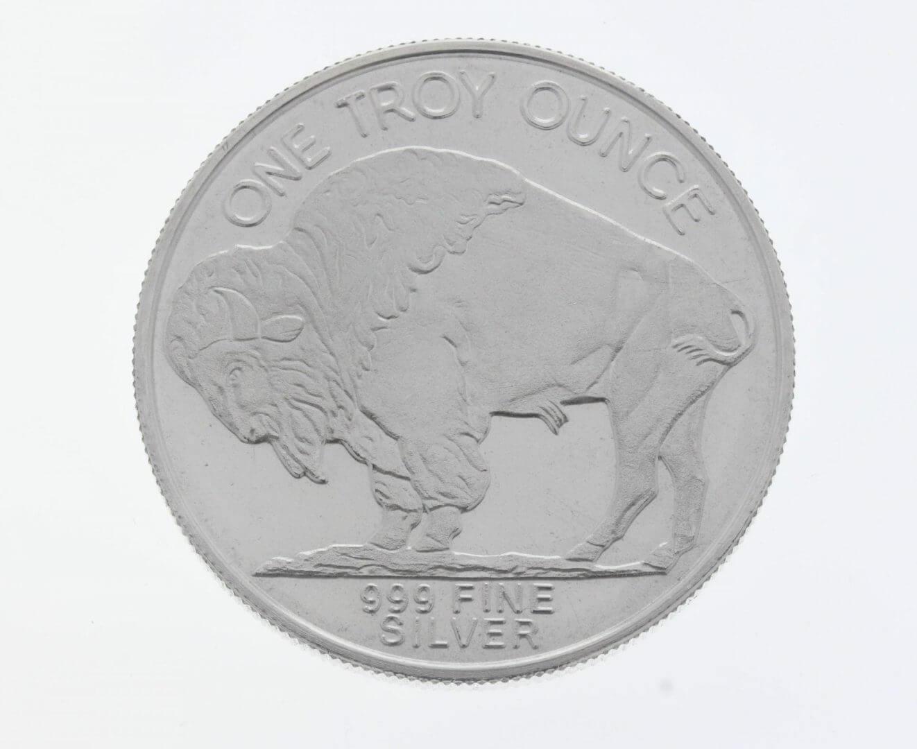 Buffalo / Indian Head 1oz .999 Silver Bullion Coin - Highland Mint 2