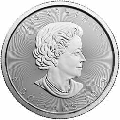 2019 Maple Leaf 1oz .9999 Silver Bullion Coin - Royal Canadian Mint 3