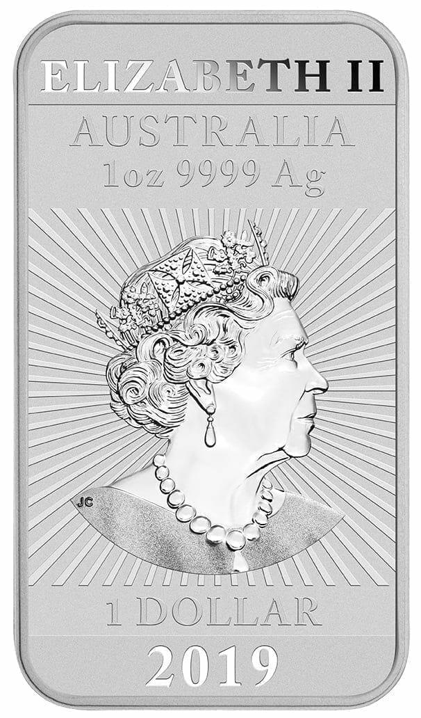 2019 Dragon 1oz .9999 Silver Bullion Rectangular Coin 3
