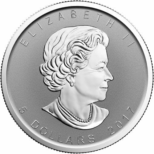 2017 Maple Leaf with Moose Privy 1oz .9999 Silver Bullion Coin - Reverse Proof - Royal Canadian Mint 2