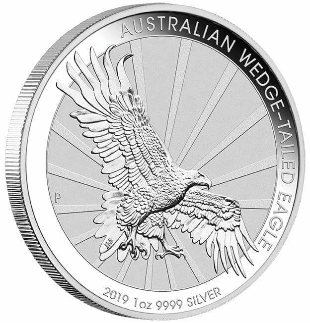 2019 Australian Wedge-Tailed Eagle 1oz .9999 Silver Bullion Coin 4
