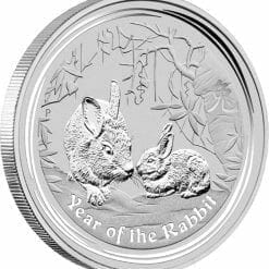 2011 Year of the Rabbit 2oz .999 Silver Bullion Coin - Lunar Series II - The Perth Mint 4