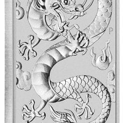 2019 Dragon 1oz .9999 Silver Bullion Rectangular Coin 5