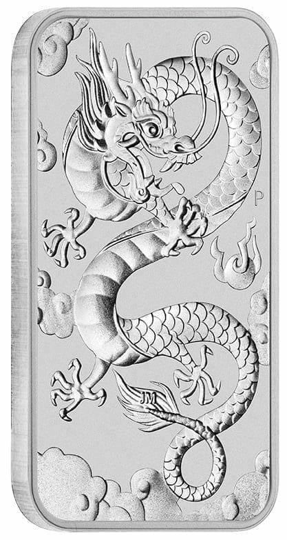 2019 Dragon 1oz .9999 Silver Bullion Rectangular Coin 2
