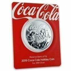 2019 1oz .999 Silver Coca-Cola Santa Holiday Coin - Limited Mintage Collectible 9
