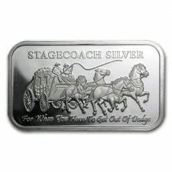 Stagecoach Silver 1oz .999 Silver Bullion Bar - 4 1/4oz Fractional - Northwest Territorial Mint 4