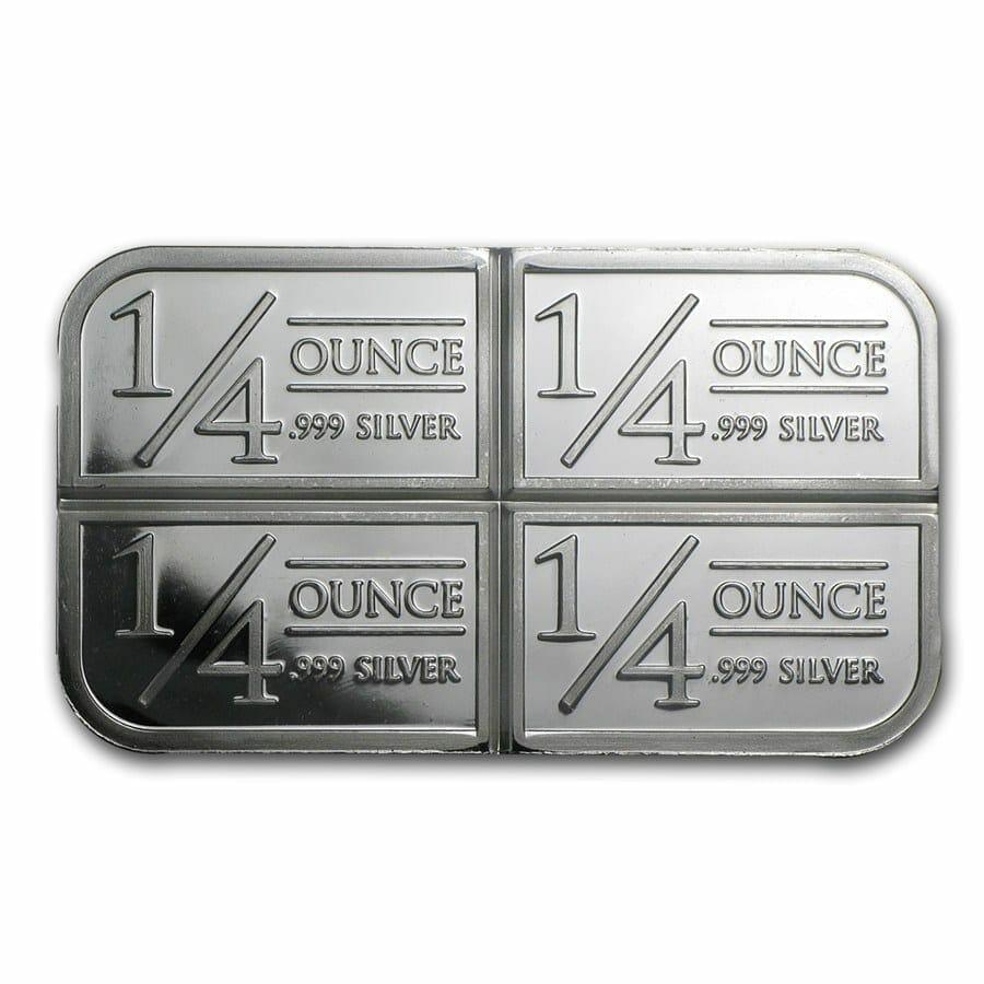 Stagecoach Silver 1oz .999 Silver Bullion Bar - 4 1/4oz Fractional - Northwest Territorial Mint 3