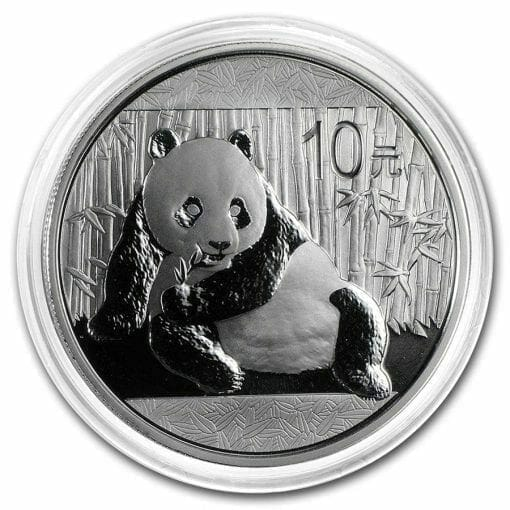 2015 Chinese Panda 1oz .999 Silver Bullion Coin - Toned 3