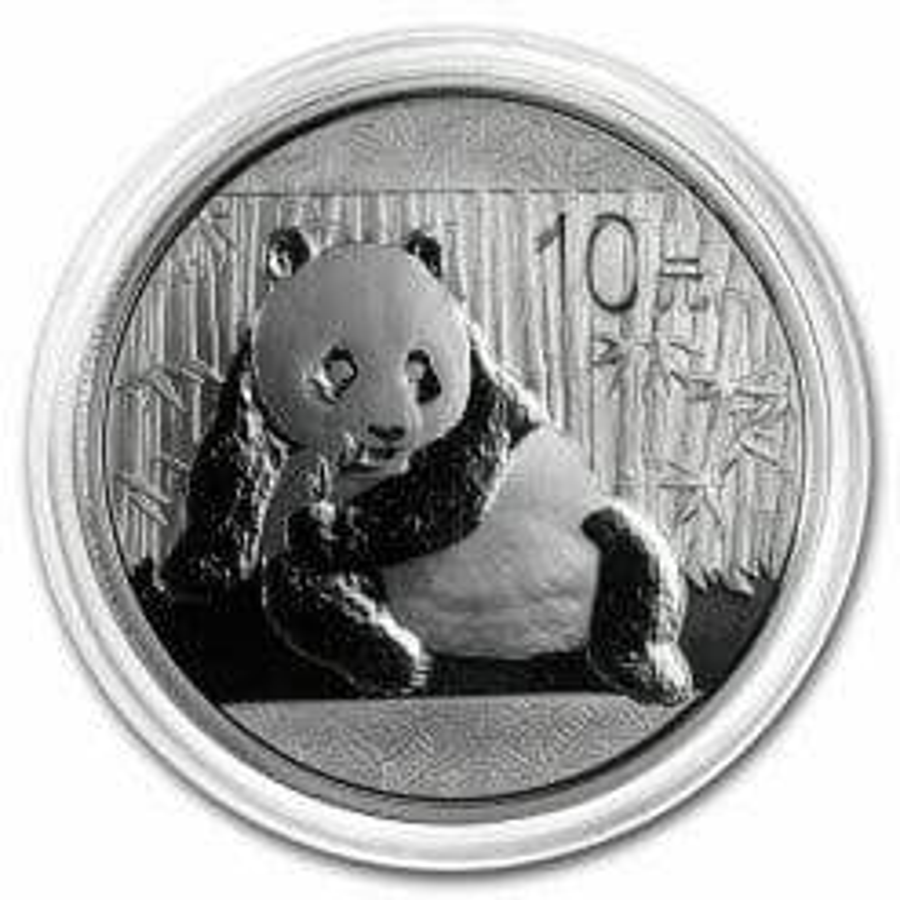 2015 Chinese Panda 1oz .999 Silver Bullion Coin - Toned 5