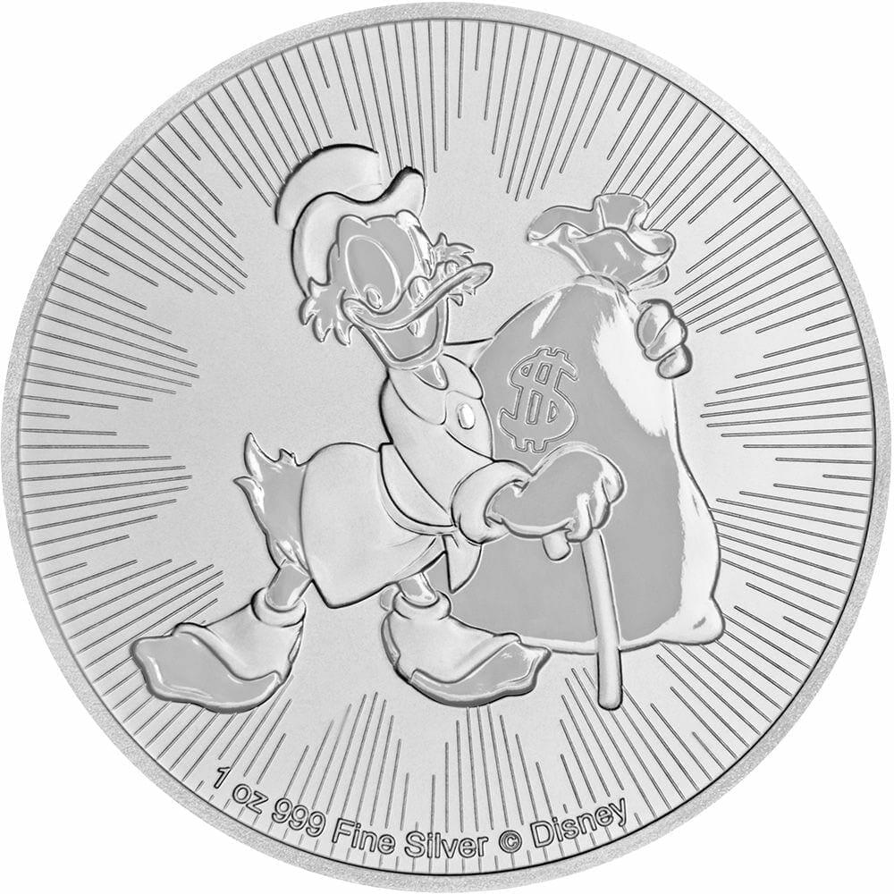 2018 Disney Scrooge McDuck 1oz .999 Silver Bullion Coin - New Zealand Mint 1