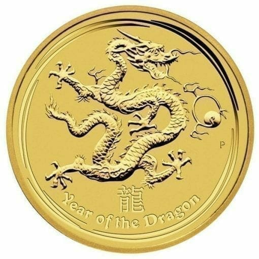 2012 Year of the Dragon 1/10oz .9999 Gold Bullion Coin - Lunar Series II - The Perth Mint 1