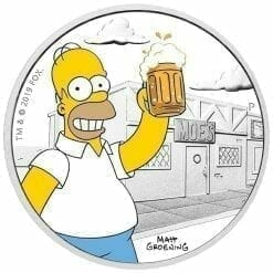 2019 The Simpsons Homer Simpson & Homer 2 Coin Set - Coloured 1oz & 1oz in Card - The Perth Mint 12