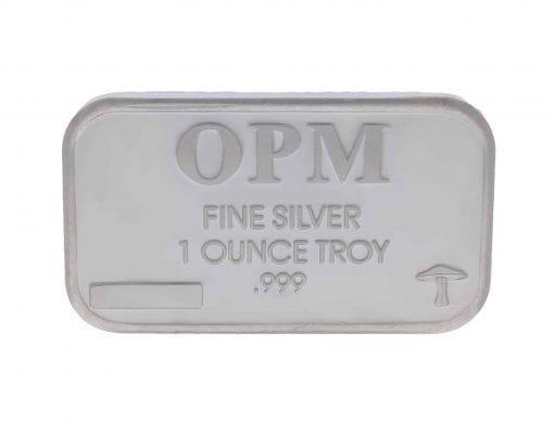OPM Mushroom 1oz .999 Silver Minted Bullion Bar 1