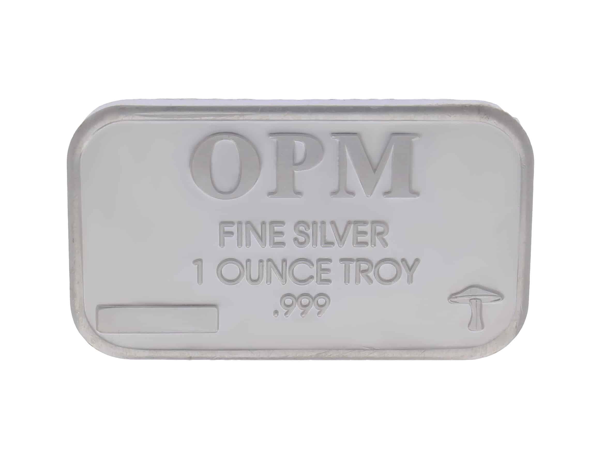 OPM Mushroom 1oz .999 Silver Minted Bullion Bar 1