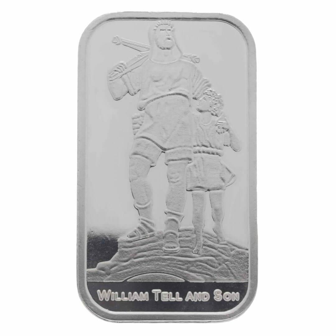William Tell And Son 1oz Silver Minted Bullion Bar 1