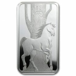 2014 Year of the Horse 1oz .999 Silver Minted Bullion Bar - Lunar Calendar Series - PAMP Suisse 6