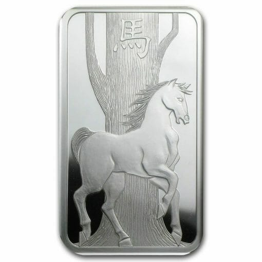 2014 Year of the Horse 1oz .999 Silver Minted Bullion Bar - Lunar Calendar Series - PAMP Suisse 3
