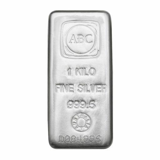 ABC 1kg .9995 Silver Cast Bullion Bar 1