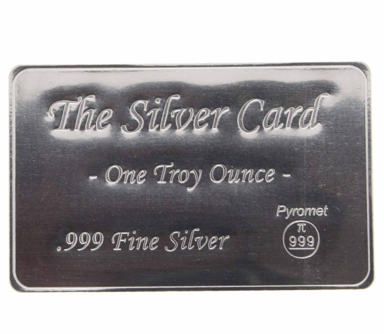 Pyromet 1oz .999 The Silver Card Bullion Bar 1