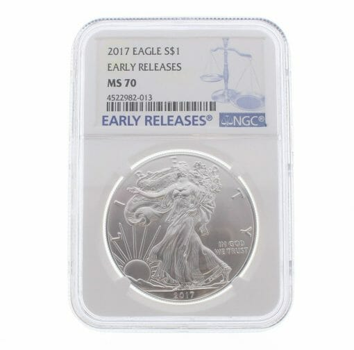 2017 American Eagle 1oz .999 Silver Bullion Coin ASE - NGC MS70 Early Release 1