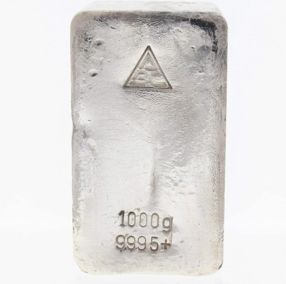 Ainslie 1kg .9995 Silver Cast Bullion Bar - ABC 1