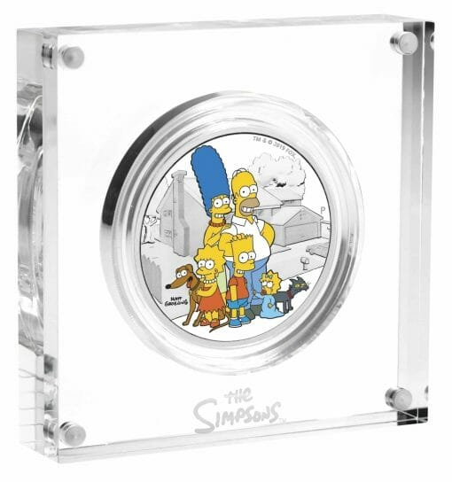 2019 The Simpsons The Family & Homer 2 Coin Set - Coloured 2oz & 1oz in Card 2