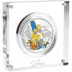 2019 The Simpsons The Family & Homer 2 Coin Set - Coloured 2oz & 1oz in Card 12