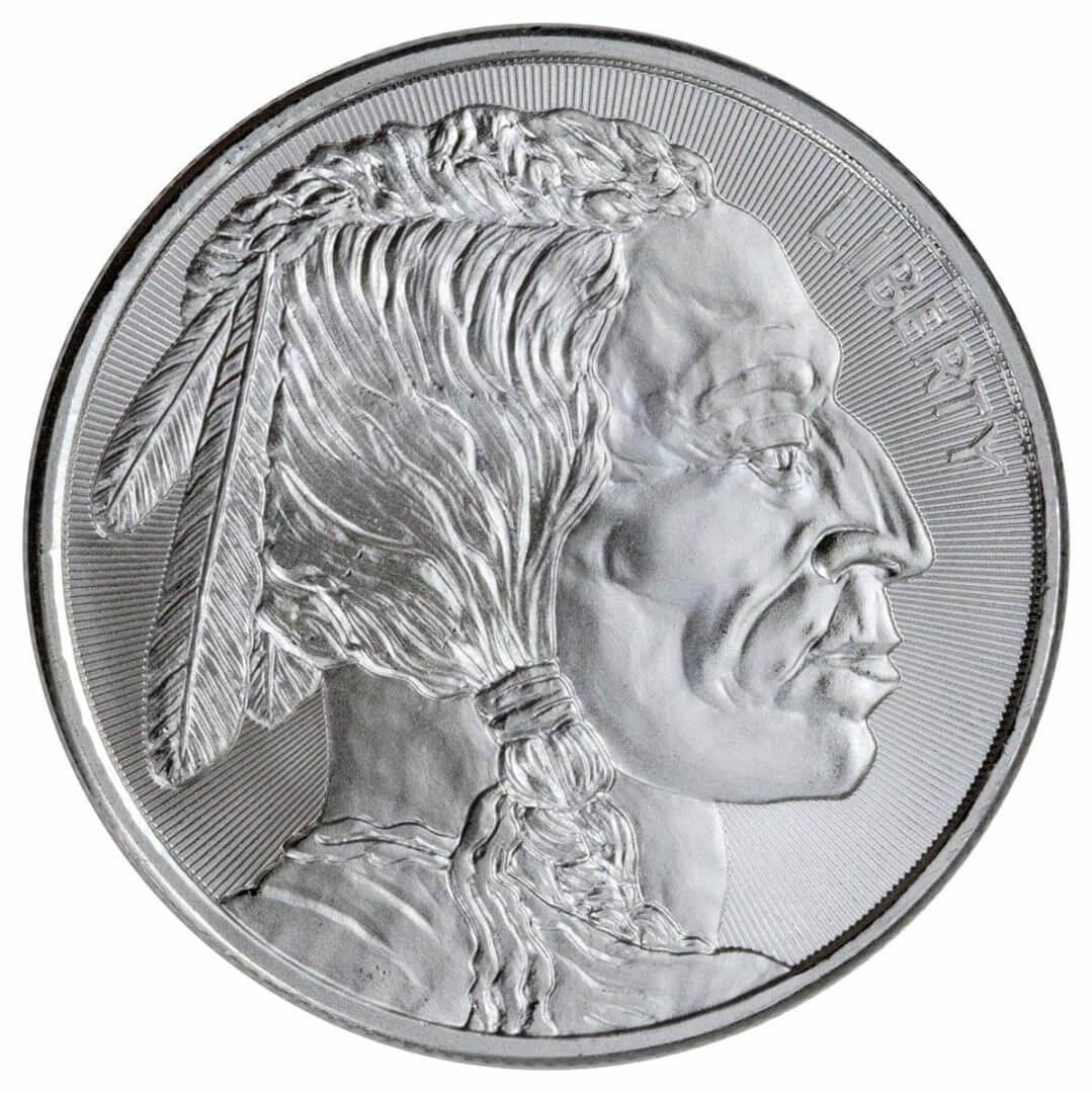 Buffalo / Indian Head 1oz .999 Silver Bullion Coin - Elemetal Mint 1