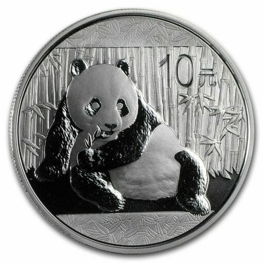 2015 Chinese Panda 1oz .999 Silver Bullion Coin - Toned 1