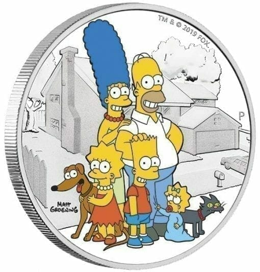 2019 The Simpsons The Family & Homer 2 Coin Set - Coloured 2oz & 1oz in Card 4