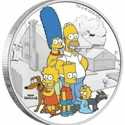 2019 The Simpsons The Family & Homer 2 Coin Set - Coloured 2oz & 1oz in Card 14