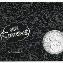 2019 The Simpsons Homer Simpson & Homer 2 Coin Set - Coloured 1oz & 1oz in Card - The Perth Mint 17