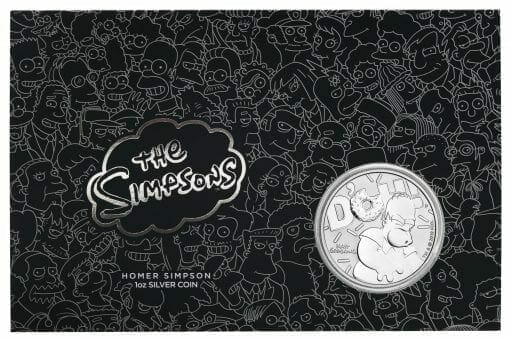 2019 The Simpsons Homer Simpson & Homer 2 Coin Set - Coloured 1oz & 1oz in Card - The Perth Mint 7