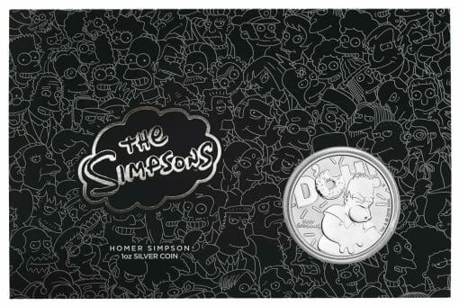 2019 The Simpsons The Family & Homer 2 Coin Set - Coloured 2oz & 1oz in Card 7