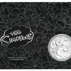 2019 The Simpsons The Family & Homer 2 Coin Set - Coloured 2oz & 1oz in Card 17