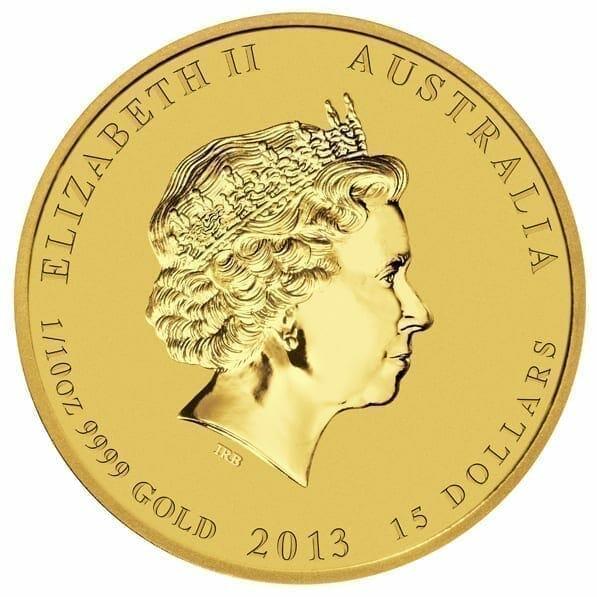2013 Year of the Snake 1/10oz .9999 Gold Bullion Coin - Lunar Series II 3