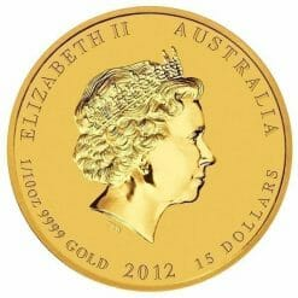 2012 Year of the Dragon 1/10oz .9999 Gold Bullion Coin - Lunar Series II - The Perth Mint 5