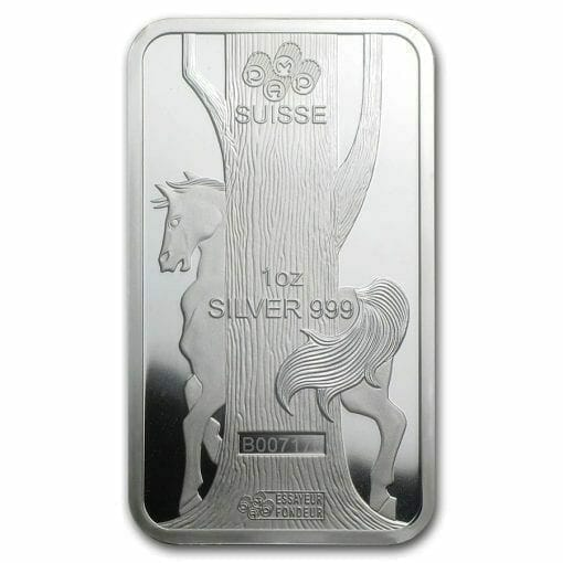 2014 Year of the Horse 1oz .999 Silver Minted Bullion Bar - Lunar Calendar Series - PAMP Suisse 4