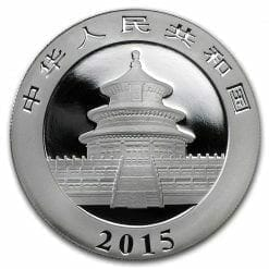2015 Chinese Panda 1oz .999 Silver Bullion Coin - Toned 4