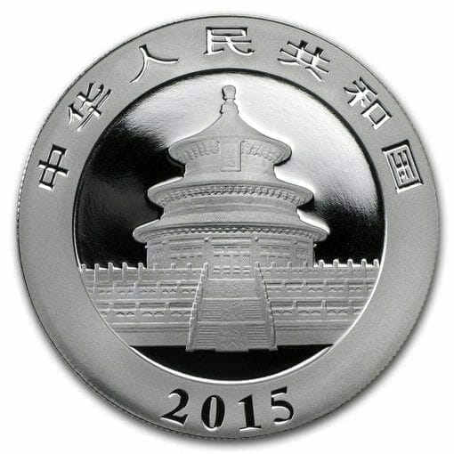 2015 Chinese Panda 1oz .999 Silver Bullion Coin - Toned 2
